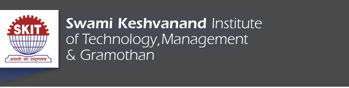 Swami Keshvanand Institute  of Technology Management  & Gramothan